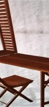 Balkonset mit ausklappbarem Tisch und 2 Stühlen - Worpswede