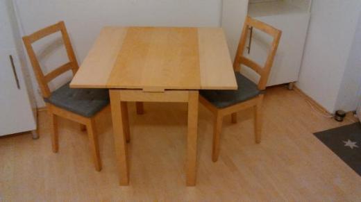 IKEA 3er SET ! Ausziehtisch + 2 Stühle + 2 Auflagen + NRtierfrei - Oldenburg (Oldenburg) Bloherfelde