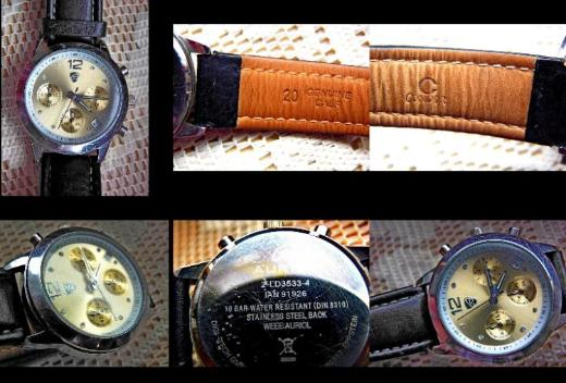 "10 BAR Marken-Chronograph ""AURIOL"" mit Lederarmband, sehr gut gepflegt! - Diepholz"