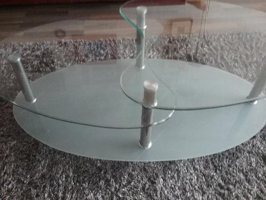 Glascouchtisch neuwertig,tauschen gegen Sekt - Bremen