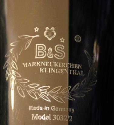 Original B&S Goldmessing Bb Tenorhorn, Modell 3032/2G-L mit Koffer - Bremen Mitte