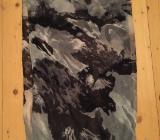 Frida Loop Schal Tuch Grau Gemustert 80 x 50 cm - Bremen