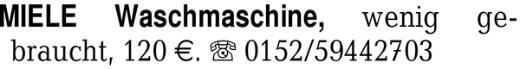 MIELE Waschmaschine, weni -