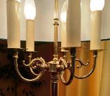 Messing-Stehlampe mit 5 Leuchten, Euro 150,-- - Bremen Schwachhausen