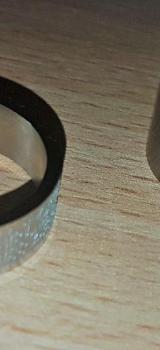 MunkiMix Breite 8 mm Edelstahl Ring + Nike Silver Stahl Ring - Verden (Aller)