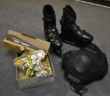 Inlineskates mit Schlittschuhkufen, Ersatzteilen u. Sicherheitspaket - Kirchlinteln