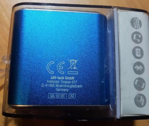 """Jaytech SA101BT/B Bluetooth Mini Bass Cube aktiv-Lautsprecher """"  NEU """" - Verden (Aller)"""