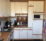 Einbauküche in L-Form weiß/Buche - Bremen