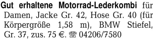 Gut erhaltene Motorrad-Le -