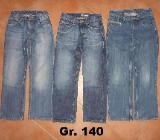 Paket: 3x Jeans Gr. 140 H&M pepperts Pocopiano, weit / regular - Bremen