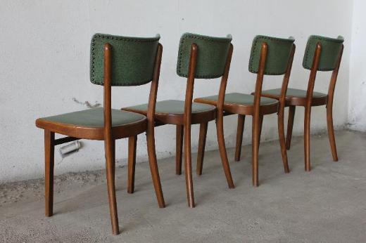 4 Frankfurter Küchenstühle Kunststoffpolster 50s 60s mid century - Bremen