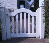 weiße Holztore - Achim