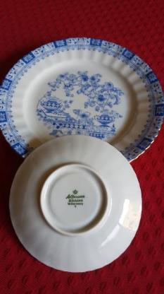 Kaffeegeschirr u. Teegeschirr, je 12 teilig, Indisch Blau - Wilhelmshaven