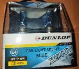 """Dunlop H7 Car Light Set 12 V 55 W Xenon Look Blue """" NEU """" - Verden (Aller)"""