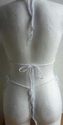 Neckholder Häkel Bikini Gr. S/M Cup B/C Handmade - Achim
