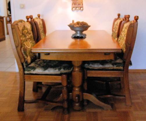 Esstisch mit 4 Stühlen - Cuxhaven