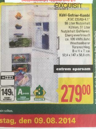 Kühl-Gefrier-Kombi A+++ - Bremen