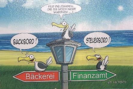 Witziges Hösti Tischset Steuerbord / Backbord - für nur 2,35 € - NEUWARE - Scheeßel