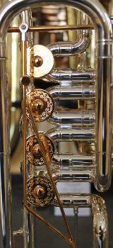 Melton Meisterwerk Bariton MWB34T-S-AU mit Trigger und Handstütze, versilbert und vergoldet. NEU - Bremen Mitte