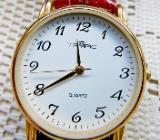 """Flache """"TEMPIC""""-Damen-Armbanduhr, Lederarmband, Batterie neu! - Diepholz"""