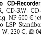 Denon Audio CD-Recorder, -