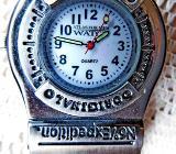 Originelle Anhänge-Uhr, Edelstahl, Karabinerhaken, gut ablesbar - Neuwertig! - Diepholz