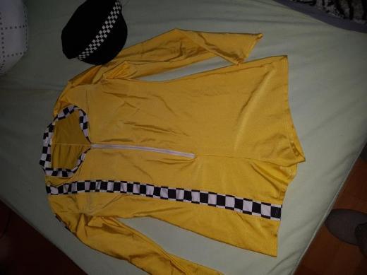 Boxen Luder Kostüm gelb mit Mütze wie neu Gr L - Rotenburg (Wümme)