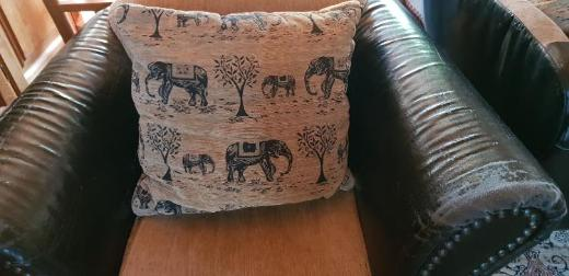 Alte Retro Leder Couch und Sessel in Afrikastyle - Weyhe