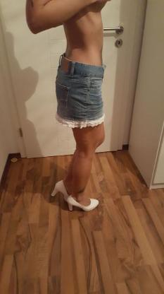 Jeans Minirock mit Spitze - Langen (bei Bremerhaven)