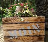 Blumenkiste,Blumentopf,Gartendeko,Geschenk,Moin,Biergarten,Holzkiste,Dekokiste,Blumenkorb,Geschenkekiste,Garten - Stuhr