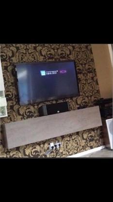 Lowboard Tv Board Hängeschrank Klappe DVD CD Phonoschrank BETON - Stuhr