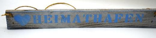 maritime Wanddeko,Holzschild,Heimathafen,Anker,Hochzeitsgeschenk,Wandtattoo,Holzdeko,Sommerdeko,Gartendeko - Stuhr