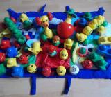 32 Teiliges Lego Primo Apfel Spiel Uhr / Wauzi / Raupen usw Paket - Edewecht