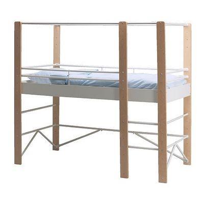 Ikea Hochbett Weiß, Holz und Metall - Bremen