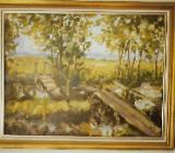 Ölbild, Motiv Fischerhude, 42 cm hoch, 55 cm breit - Bremen