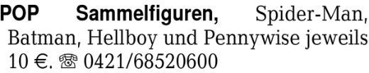 POP Sammelfiguren, Spider - Bremen Neustadt