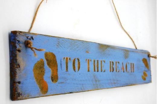 Holzschild To the Beach,Gartenschild,Türschild,Sommerdeko,Holzschild,Holzdeko,Wanddeko,Türschild,Gartendeko,Wanddekoration,Strandkorb,Schiff,Wohnwagen,Wohnmobil - Bremen