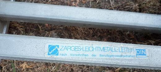 Alu Leiter ZARGES 2-teilig ca. 5,80 m 20 Trittstufen - Verden (Aller)