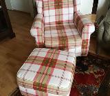 Schöner Sessel mit Hocker, Dodenhof, gut erhalten - Bremen