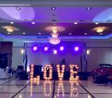 Leuchtbuchstaben vermieten, Hochzeitsdekoration, - Fintel
