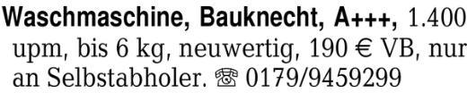 Waschmaschine, Bauknecht, -