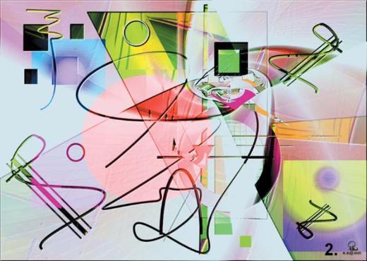 Digitale abstrakte Kunst - Bremerhaven