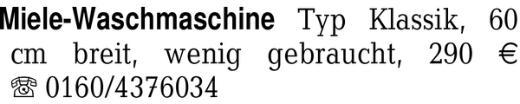 Miele-Waschmaschine Typ K -
