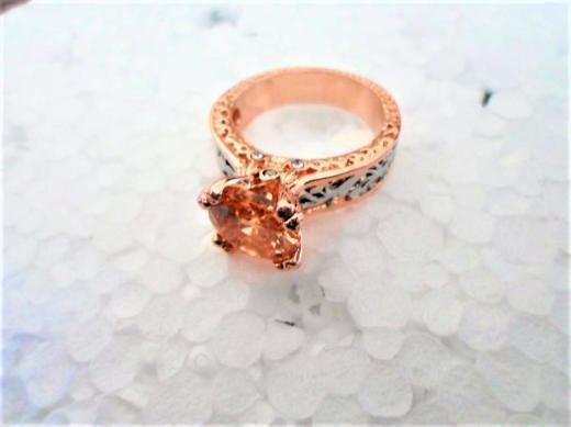 Ein Champagner-farbener Ring-NEUWARE - Holdorf