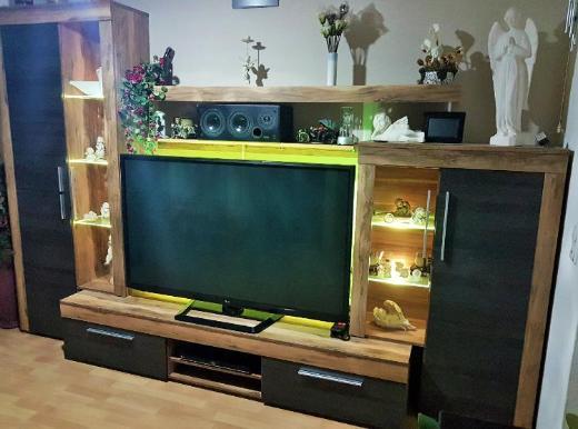 Wohnwand Boom - Touchwood - LED Beleuchtung - 308 -368 cm breit - Verden (Aller)