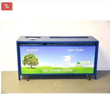 Wertstoffbox / Mülltrennstation, blau, gebraucht - Wilhelmshaven