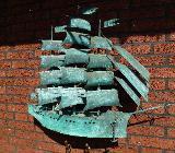 Segelschiff aus Kupfer, - Schwanewede