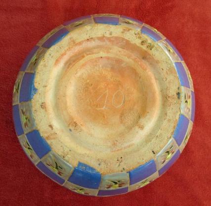 Pflanzkübel aus Keramik; Pflanzgefäß, Pflanztopf, Blumentopf, Übertopf; mediterraner Landhausstil; Höhe 22,5 cm; guter Zustand. zugunsten Tierschutz - Achim