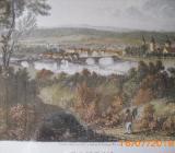 Original Kupferstich von Hameln - Bremen