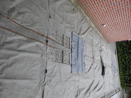 BW Einheitszelt  Plane Mittelteil  Holz Abdeckplane Neu
